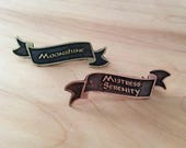 Name Banner Pin - Renaissance Faire - Ren Fest - Renaissance Jewelry - Name Badge - Custom Made To Order - Favor Pin - Faire Favor