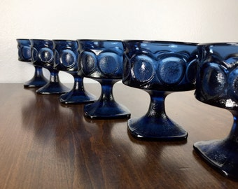 Set of 6 NORITAKE Spotlight Glasses - Dark Blue Glasses