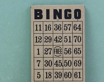 Vintage BINGO cards, Brown Cards