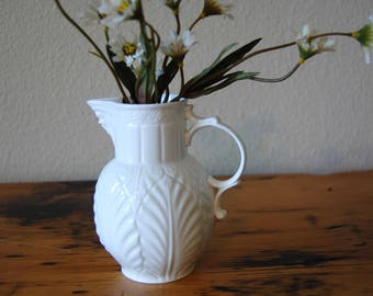 Vintage The Caughley Mask-Head Jug Vintage White Coalport Caughley Mask-Head Jug Reproduction Bone China Jug from The Eclectic Interior