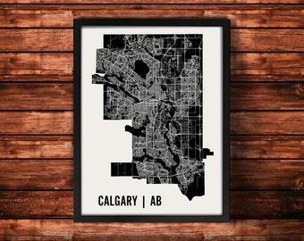 Calgary Map Art Print   Calgary Print   Calgary Art Print   Calgary Poster   Calgary Gift   Wall Art