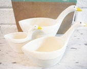 Goose measuring cups vintage stacking nesting bird decor retro kitchen
