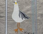Mr. Seagull, a nice handsome SEAGULL Machine Embroidery design - fill or appliqué - fits the 5 x 7 hoop, 2 designs - a true story bird...