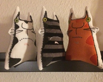 COOL CATS ITH - Machine Embroidery Designs - Whimsy softies for multiple use