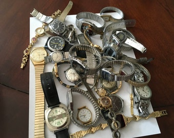 Vintage watch lot --31 watches/parts