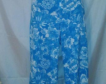 """SPRING CLEARANCE SALE 70s Vintage The Lilly Pulitzer Pants-32"""" Waist-Medium-Size 8-Collector-Casual Resort Cruise Beach Wear"""
