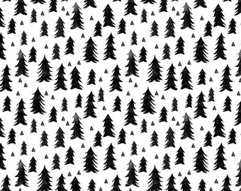 Nursing Pillow Cover - Black Pine Trees and Minky Boppy Cover - Woodland, Outdoors