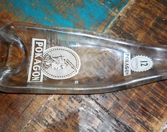 Vintage Pokagon Bottle Slumped!  Very Unique!