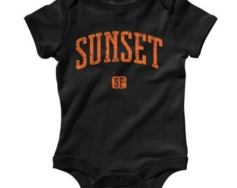 Baby One Piece - Sunset San Francisco Infant Romper - NB 6m 12m 18m 24m - Baby Shower Gift, Sunset District Baby, Neighborhood, Bay Area