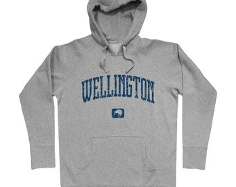 Wellington New Zealand Hoodie - Men S M L XL 2x 3x - Gift For Men, Gift for Her, Hoody, Wellington Hoodie, Kiwi, Rugby Hoodie, New Zealander