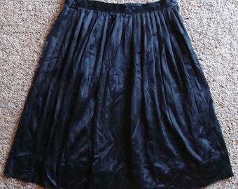 BLACK HALF SLIP vintage travel mates by tiffany 50's 60's 25 waist xs S