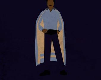 Star Wars The Empire Strikes Back - The Scoundrel - Lando Calrissian Art Print - poster, gambler, star wars, minimalist