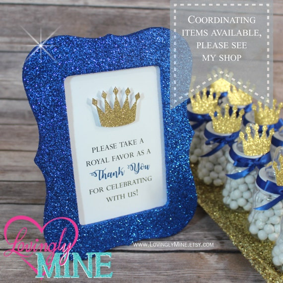Little Prince Baby Bottle Favors In Royal Blue Amp By