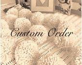"Custom Order for Deborah - Large Pom Poms - 3""  20/ 4 Colors"