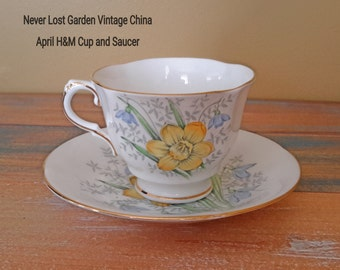 Tea Cup and Saucer April Sutherland HM Vintage