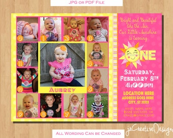 sunshine invitation you are my sunshine sunshine birthday invite sun shine invitation 1st birthday girl invitation 12 month pictures 1 year