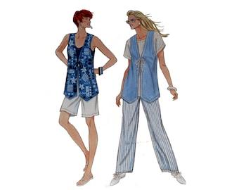 Shorts Pattern, Vest and Pants Pattern, Simplicity 9461, So Easy,  Vintage Pattern, UNCUT, Lined Vest, Size XS, Size XL, Size M, Size L