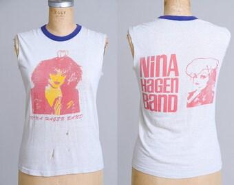 80s Nina Hagen Band Paper Thin Early Punk Cut Off T Shirt