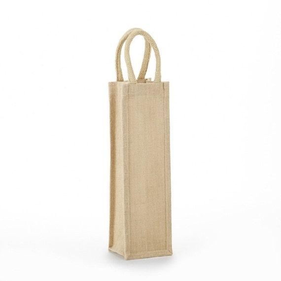 Items similar to jute wine bag burlap on etsy