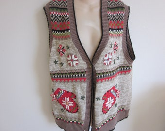 Ugly Christmas Sweater Vest Holiday party winner XL