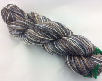 "Zeus - Hearthside Fibers ""BaaBoo"" - Superwash Merino/Bamboo/Nylon Hand Dyed Sock Yarn"