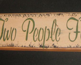 "Primitive Lg  Wood Love Sign "" All Because Two People Fell In Love ""  Hand Painted  Country  Rustic  Housewares"