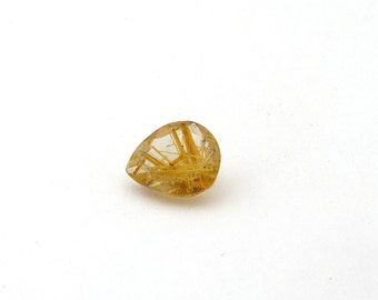 Gold Rutilated Quartz Gold Rutile Designer Gemstone 10.4x12.5x6.0 mm  4.3 carats Free Shipping