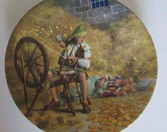 Vintage Rumpelstilzchen Plate Charles Gehm Rumpelstiltskin Grimm Fairy Tales Collection Konigszelt Bavaria Bradford Exchange Number 496