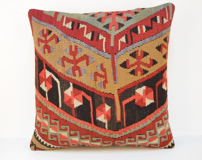 Kilim pillow, KP1804, Decorative Pillows, Designer Pillows, Bohemian Decor, Moroccan Pillow,  Bohemian Pillow, Accent Pillows, Throw Pillows