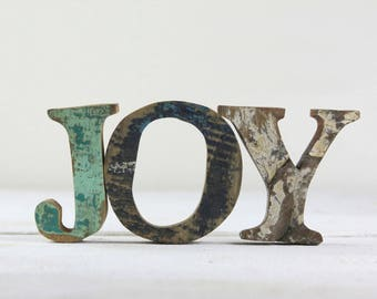 Happy Valentine's Day! FREE SHIP, JOY Sign, Nautical Wooden by Seastyle, Beach Decor, Vintage, Gift for Her, Holiday