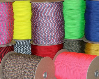 1000 ft Spool of Wholesale 550 Paracord Type III Mil-Spec 7 Strand Commercial Grade