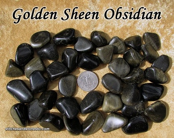 Sheen Obsidian (medium) tumbled stone for crystal healing