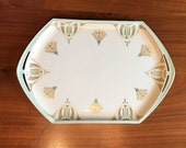 Antique MZ Austria Art Deco Porcelain Vanity Tray Hallmarked and Numbered