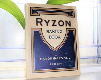 Antique 1916 Ryzon Baking Book Cookbook