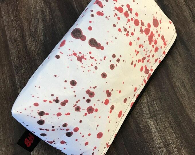 Handmade Blood Splatter Makeup Pouch