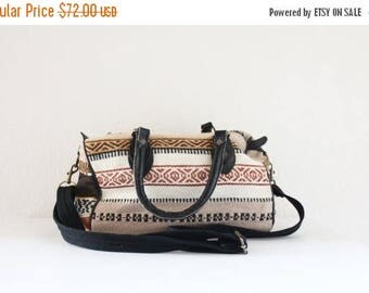 SALE saddle blanket duffle / cotton