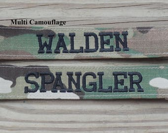 MultiCamouflage Military Name Tape or Name Patch  MultiCam, Custom Name Tapes