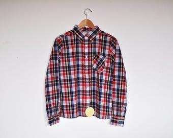 NOS Vintage Men's Plaid Button Up Shirt