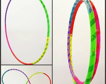 Rainbow Colorblock // Collapsible Hula Hoop // Custom // Made to Order // Exercise // Dance // Birthday // GLOW // Any Size // Any Tubing