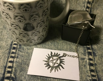 Supernatural tea ball anti possession tattoo loose leaf tea infuser Winchester bros