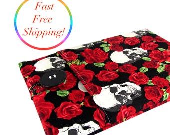 MacBook Case, MacBook Sleeve, MacBook Cover, MacBook Case 12 Inch, 12 Inch MacBook Case, 12 Inch MacBook Sleeve, Laptop Case, Skull Roses