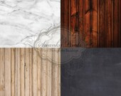 FOUR 2ft x 2ft Customer Favorite Wood Floordrops / Vinyl Photography Backdrops for Product Photos
