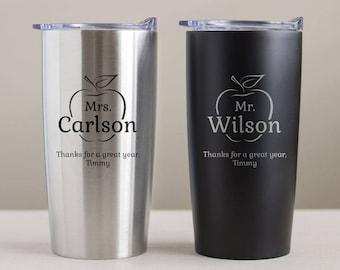 Custom Engraved Teacher Tumbler: Personalized Teacher Mug, Personalized Teacher Gift, Teacher Travel Mug, Unique Teacher Gift SHIPS FAST