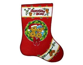 Vintage Berenstain Bears Christmas Stocking