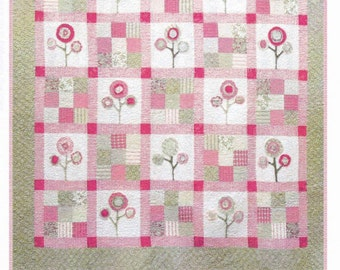 New Lissy's Flowers Quilt sewing pattern by Mary's Cottage Quilts #120
