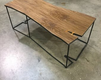 Great Walnut Coffee Table ,modern,minimal,industrial Look,geometric Shape,live  Edge Great Ideas