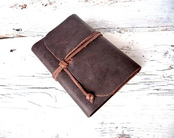 Refillable leather Journal. A6 refillable journal. Leather Book Cover. Refillable Book Cover. Free Personalisation