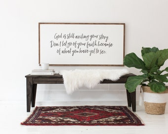 Writing Your Story - Wood Sign