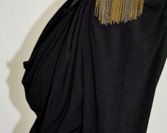 Little black Dress , Studded Little Black Dress , Vintage Dress , Urban 1990s black Dress , Rock dress , Goth Dress , Clearance cool Dress