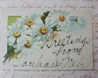 Pretty Edwardian Era Postcard From Lanham, Nebraska